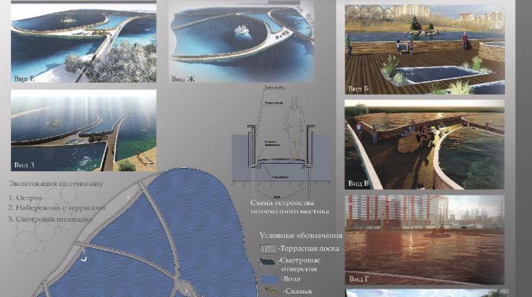 """Проект пешеходных путей на озере """"Нити Ариадны"""""""